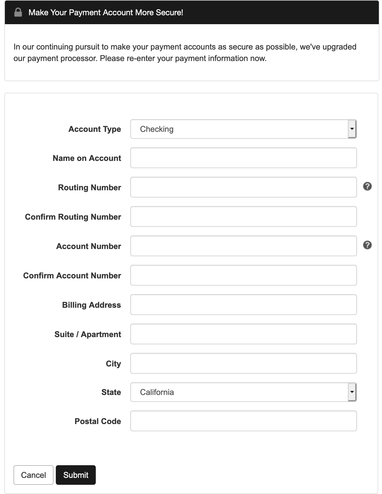 Chase Payment Gateway for Green Filing Fees